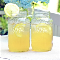 Mrs. & Mrs. 26oz. Mason Jar Set