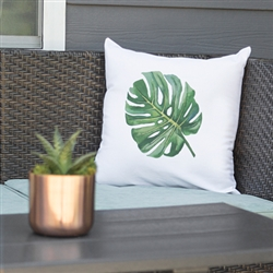 "16"" Palm Leaf Throw Pillow"