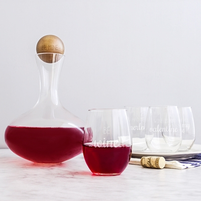 Be Mine Wine Decanter & Glass Set