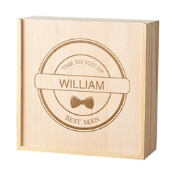 Personalized Best Man/Groomsman Craft Beer Wooden Gift Box (2 Designs)