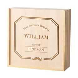 Personalized Best Man Wooden Gift Box