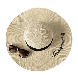 Honeymooning Natural Straw Hat