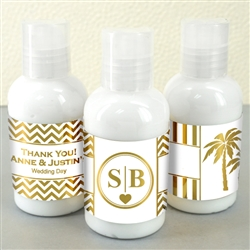 Metallic Foil Hand Lotion Favors