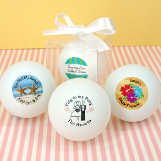 Personalized Wedding Ping Pong Ball Favors