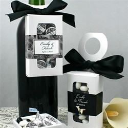 Personalized Bottle Hanger Favor Boxes