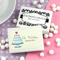 Personalized Mint Box Favors