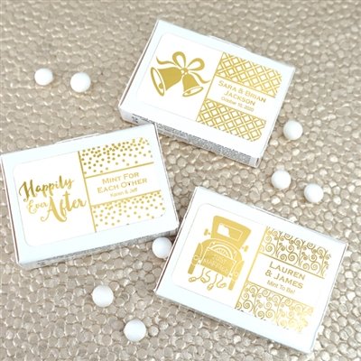 Metallic Foil Mint Box Favors