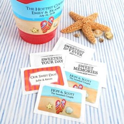 Personalized Wedding Sugar Packets (pkg of 100)