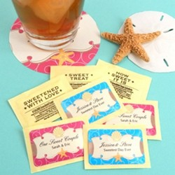 Personalized Wedding Sugar Substitute  Packets (pkg of 100)