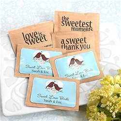 Personalized Wedding Natural Raw Sugar Packets (pkg of 100)