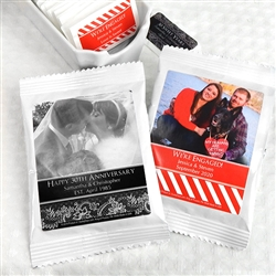 Personalized Photo Coffee Favors (White)