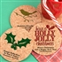 Holiday Round Cork Coasters