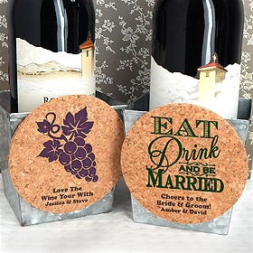 Personalized Round Cork Coaster Magnets