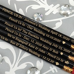 Personalized Black Pencils (Set of 12)