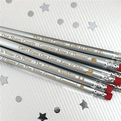Personalized Silver Pencils (Set of 12)