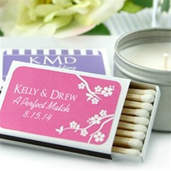 Personalized Matchboxes - White Box (Set of 50) - Silhouette Collection