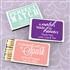 """Perfect Match"" Personalized Matches - Set of 50 (White Box)"