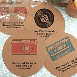 Personalized Kraft Paper Coasters