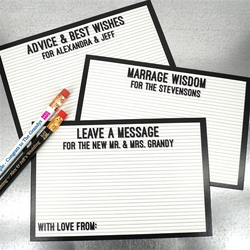 letter board advice cards set of 25