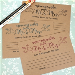 Rustic Kraft Advice Cards (Set of 25)