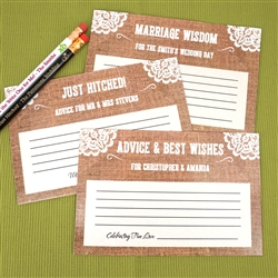 Personalized Burlap Advice Cards (Set of 25)