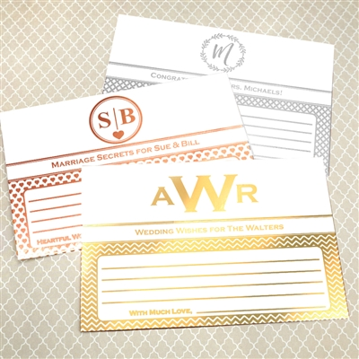 Metallic Foil Advice Cards (Set of 25)