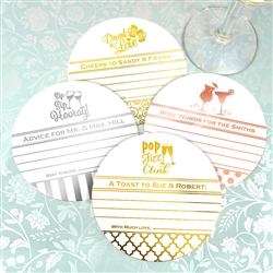 Metallic Foil Advice Coasters