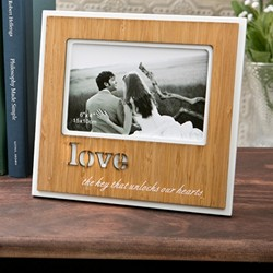 Love Bamboo finished frame with Laser engraving