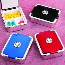 Elegant Pill Box (Package of 12 Assorted Colours)