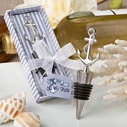 Nautical themed anchor bottle stopper