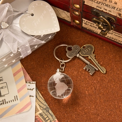 Choice Crystal collection crystal glass globe with key chain