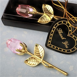 Choice Crystal Gold long stem pink Rose