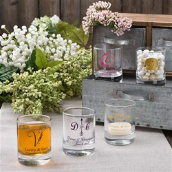 Monogram Collection Shot Glass/Votive Holder