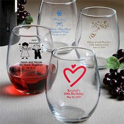 Personalized Glassware-Personalized stemless wine glasses