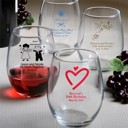 Personalized Stemless Wine Glasses On Sale At The