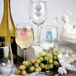 Personalized 12 Oz. Wine Goblet Favors