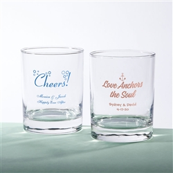 SCREEN PRINTED PERSONALIZED 13 OZ. ROCKS GLASS