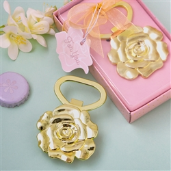 Champagne gold rose bottle opener