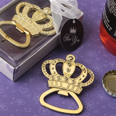 Make it Royal Gold metal crown design bottle opener