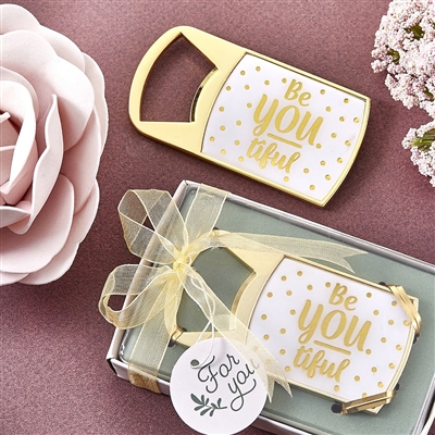 Gold Be-You-Tiful Bottle Opener Favor
