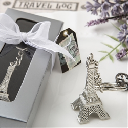 Eiffel tower metal key chains