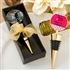 Personalized expressions collection gold metal wine bottle stopper