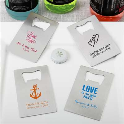 Personalized Credit Card stainless steel bottle opener