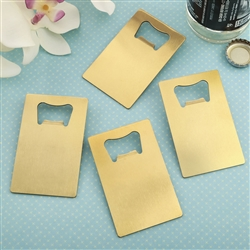 Brushed Gold Credit Card bottle opener
