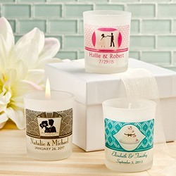 Clearly Custom Frosted Glass Candle Holder With Wax