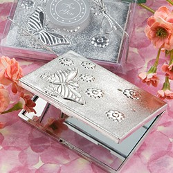 <em>Elegant  Reflections Collection</em> butterfly design mirror compact favors