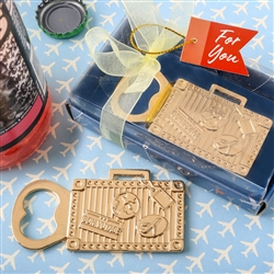 gold suitcase metal bottle opener