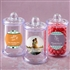 Personalized clear acrylic apothecary jar with lid favor