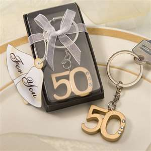 50th Anniversary key ring favors