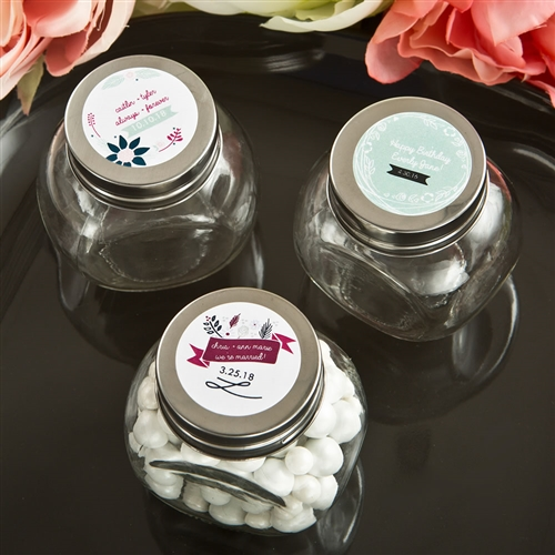 Vintage Design Glass Candy Jars On Sale At The Wedding Shoppe Canada